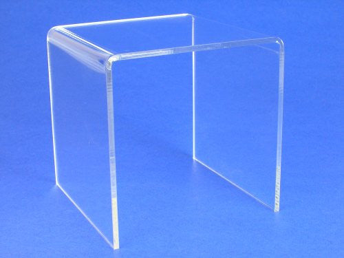 "Display Riser Premium Acrylic 4""H Pack Of 2 Pcs(1376-4)"