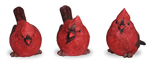 Cardinal Figurine Birds Decoration - Set of 3 Styles - 4 Inch High