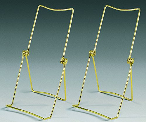 Brass Metal Easel Display Stand Plate Holder Set of 2(1327-B)