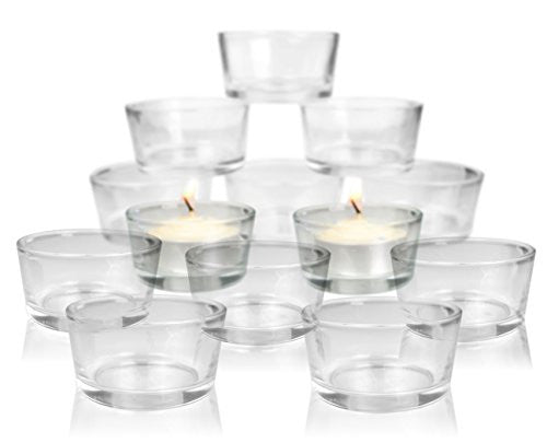 Tea Light Candle Holders - Clear Glass Candle Holders - Set of 72 - Wedding Decorations Centerpieces