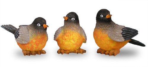 Robin Birds Figurines Set of 3 Styles