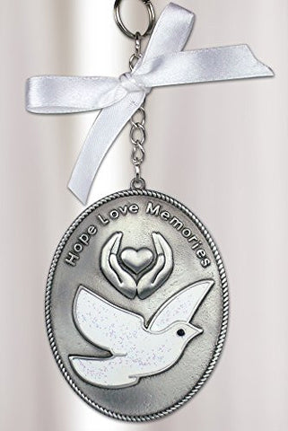Dove Loving Memory Ornament - Hope Love Memories Embossed on Front
