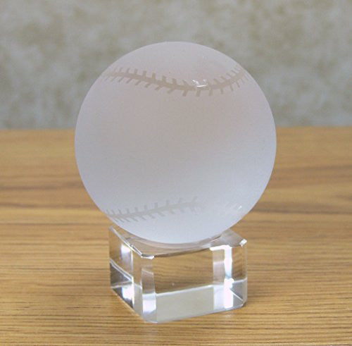 Crystal Baseball on Crystal Base - Base Can Be Engraved