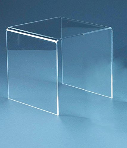 Display Risers Premium Acrylic 4 Inch High Pack Of 2(1377-4)