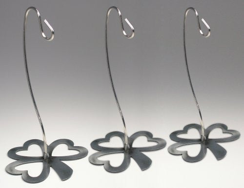 "Irish Ornament Stand Chrome Shamrock 6""h Pack of 3 Pcs(1364)"