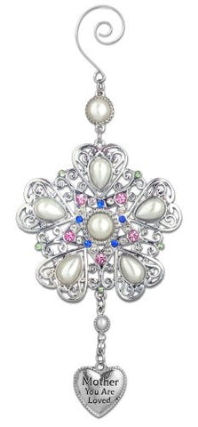 Mom You Are Loved - Faux Pearls and Jeweled Filigree