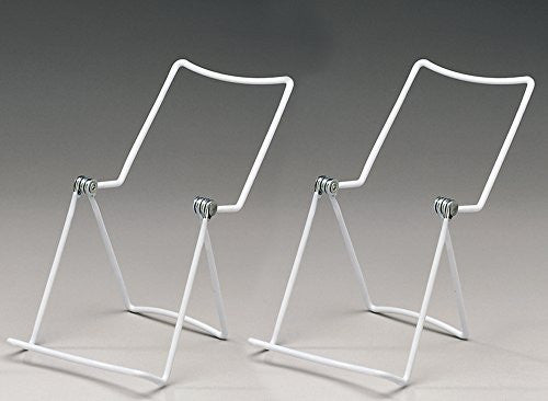 Metal Wire Easels White Vinyl Coated Display Plate Stand Holder Hinged Adjustable Multi Position - Set & Metal Wire Easels White Vinyl Coated Display Plate Stand Holder ...