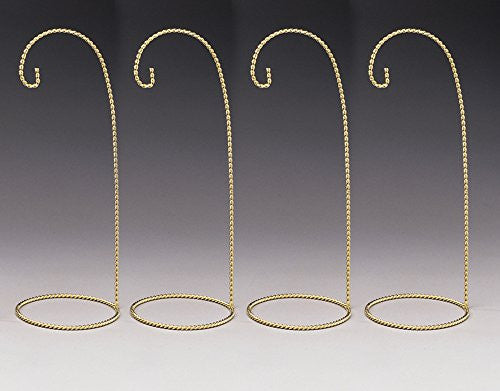 Metal Ornament Display Stands Twisted Brass - 11 Inch - Pack of 4 Pieces