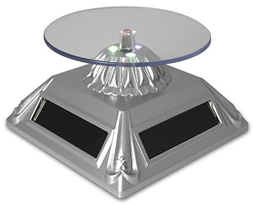 Solar Powered Rotating Merchandise Display Base