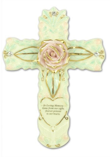 Sympathy Cross Porcelain Loving Memory