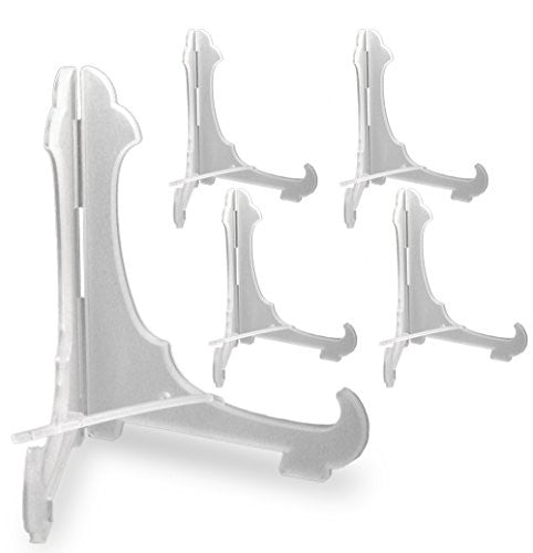Clear Frosted Plastic Economy Easels With Locking Bar 6 Inch (Pack of 5)