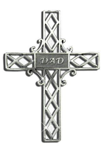 Dad Pewter Hanging Cross(9712)
