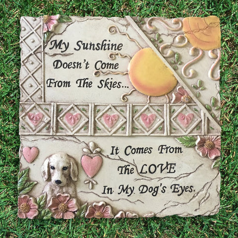 Dog Lovers Plaque Inspirational Indoor or Outdoor