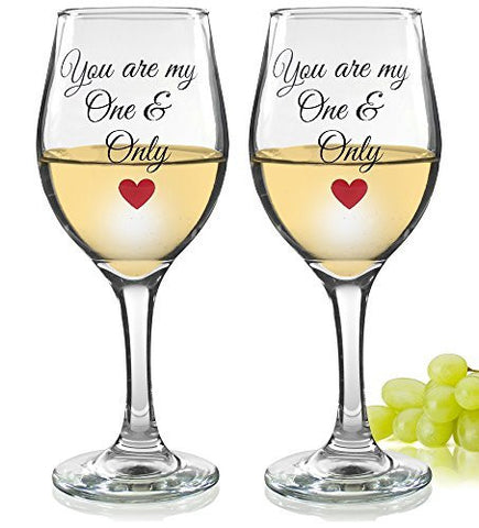 Romantic Wine Glass - You Are My One and Only