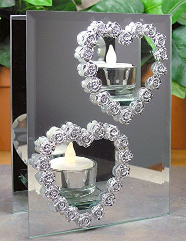 Heart and Roses Candle Holder