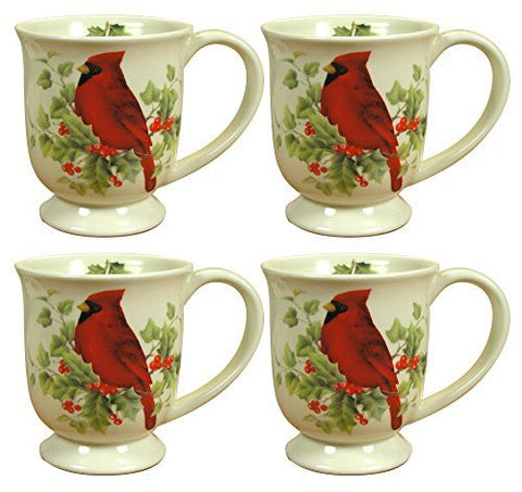 Christmas Holiday Mug Coffee Cup With Cardinal - 4.5 Inch(4901)