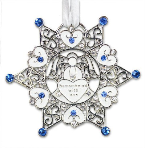 Bereavement Sympathy Memorial Snowflake Christmas Ornament