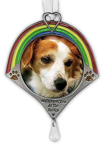 Pet Remembrance Rainbow Bridge Photo Ornament