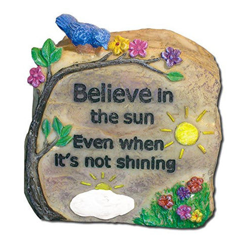 Believe Polystone Message Rock Decorative Stone(2577)