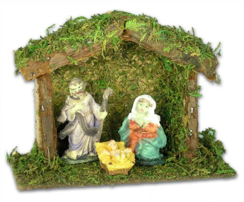 Nativity Set Creche with Mary Joseph and Jesus