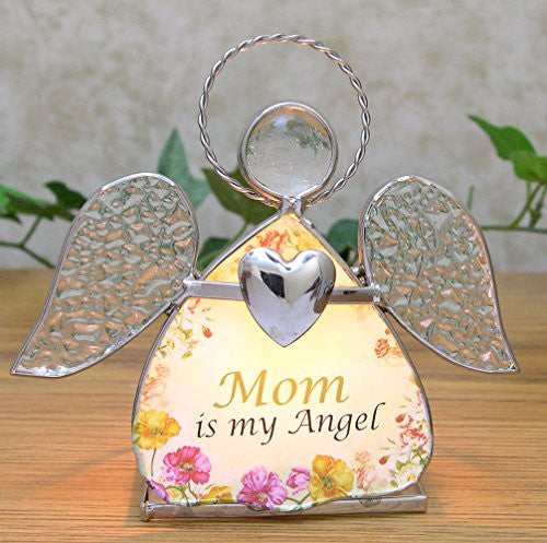 Glass Stained Glass Angel Candle Holder - Mom is My Angel(2120)