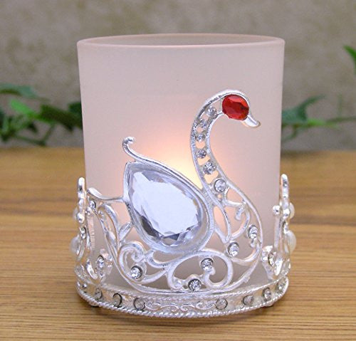Frosted Glass Votive Candle Holder
