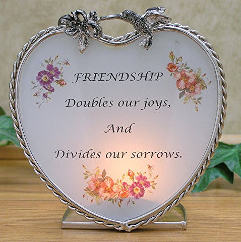Banberry Designs Friendship Candle Holder with Message