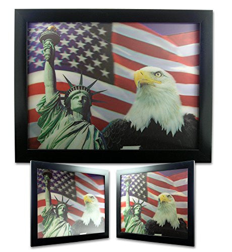 American Eagle - Statue of Liberty - Americam Flag - 3D Dimensional Print