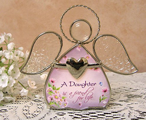Daughter gifts - Glass Angel Tea Light Candle Holder