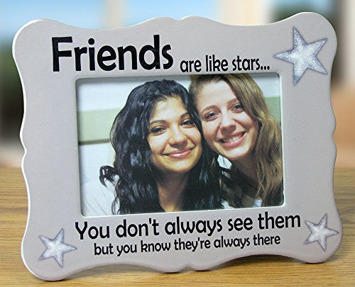 "Friends Picture Frame - Ceramic Picture Frame Fits a 4"" X 6"" Photo"