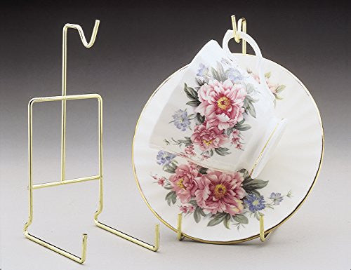Gold Cup and Saucer Display Stand Set of 2(1308)