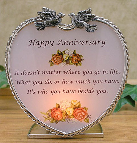 Happy Anniversary Candle Holder
