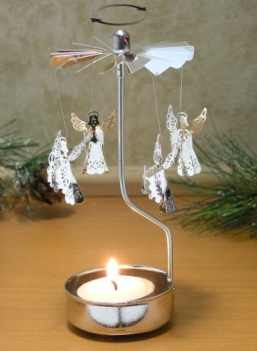 Spinning Angels Candle Holder Silver Scandinavian Design