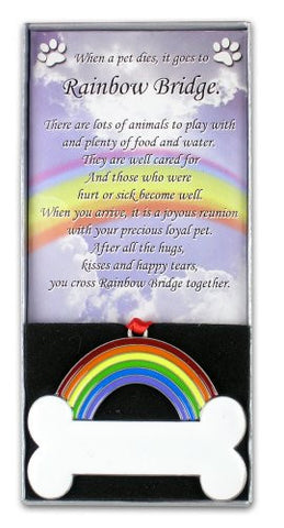 Rainbow Bridge Dog Bone Pet Remembrance Ornament