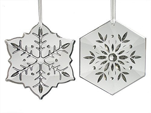 Glass Snowflakes - Set of 2