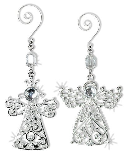 Angel Ornaments - Crystal and Metal Angel Ornaments