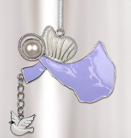 Memorial Angel with Dove Charm - Angel Ornament Gift Boxed
