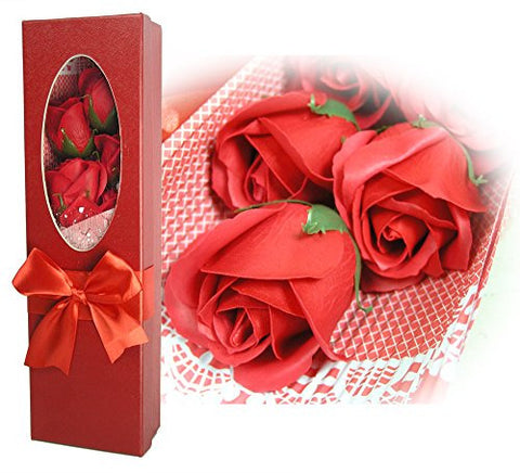 Bouquet of Red Roses in a Gift Box