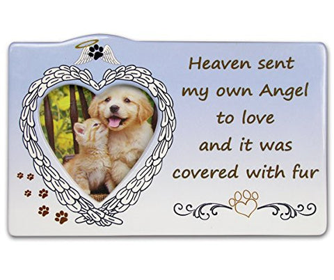 Pet Bereavement Memorial Photo Frame Inspirational Picture Frame Heart Shaped