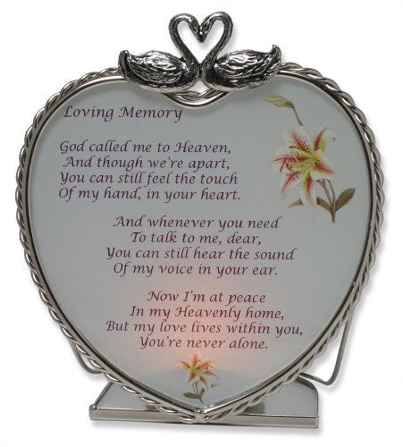 Loving Memory Bereavement Memory Candle Holder