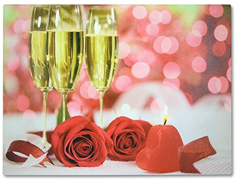 LED Canvas Print with Roses - Light up Picture