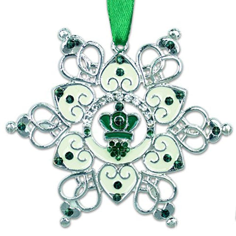Irish Ornament - Claddagh Ornament - Irish Snowflake Ornament