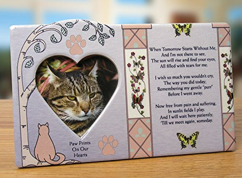 Cat Memorial Message Photo Frame Remembrance Plaque(2487)