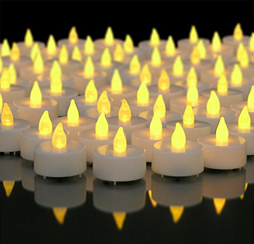 Flameless LED Tea Lights Set of 96