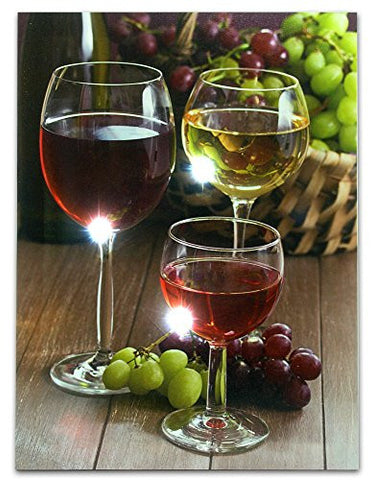 White & Red Wine Canvas ART