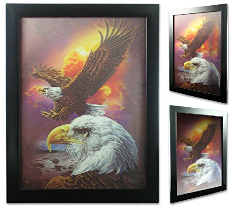 American Eagle 3D Dimensional Holographic Framed Poster