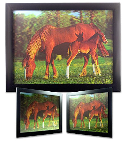 Horse and Foal on the Ranch 3D Holographic
