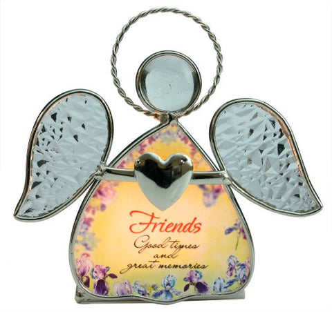 Friend Candle Holder -- Beautiful Glass Angel Tealight Candle Holde