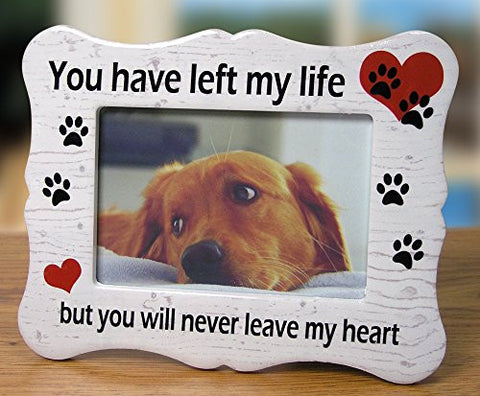 Pet Memorial Ceramic Picture Frame - Loss of a Pet Gift - Pet Photo Frame - Pet Sympathy Gift - in Memory of a Pet