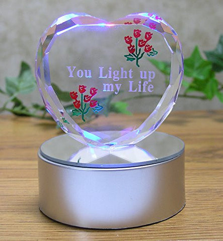 You Light Up My Life - LED Heart Gift for Her(195)